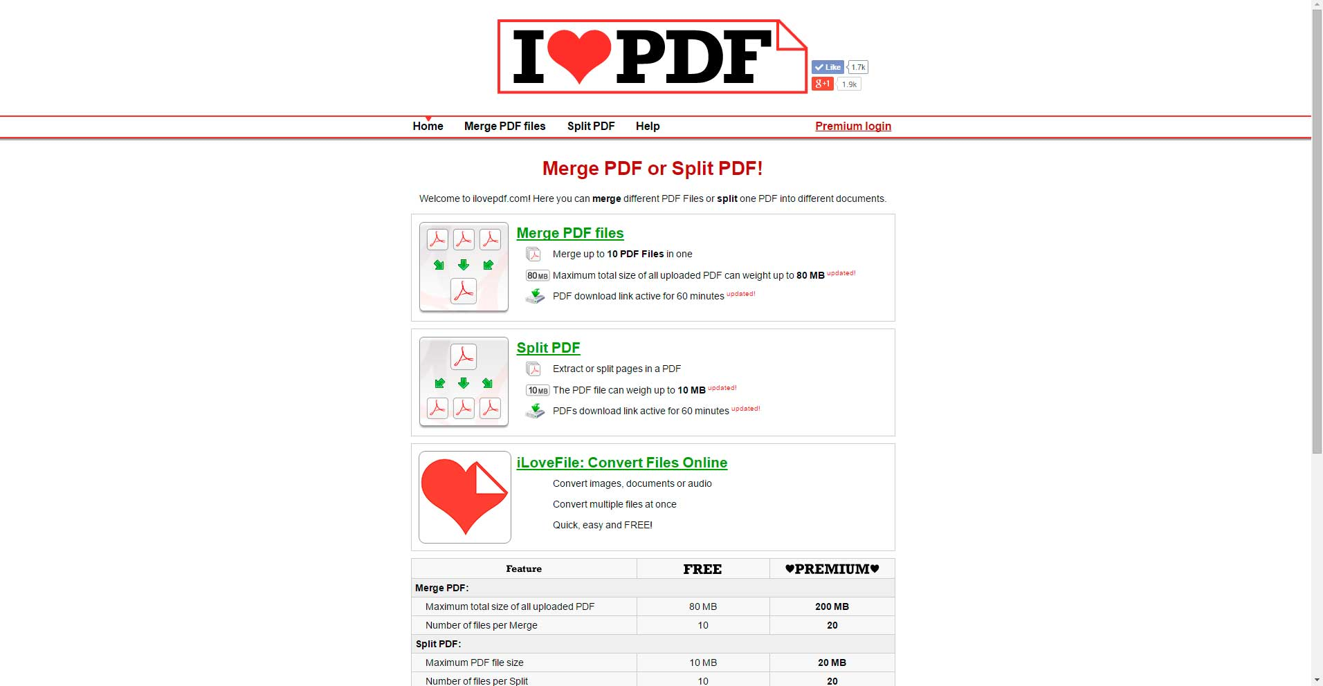 Image result for ilovepdf screenshot site:ilovepdf.com