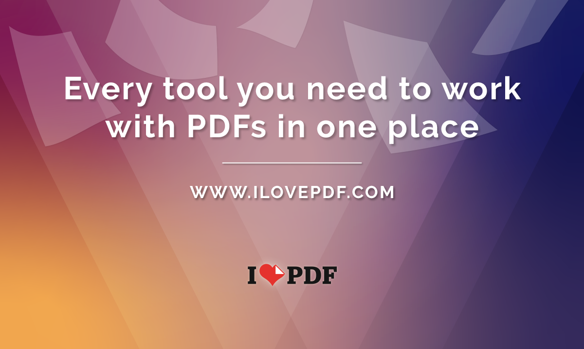iLovePDF | Online PDF tools for PDF lovers